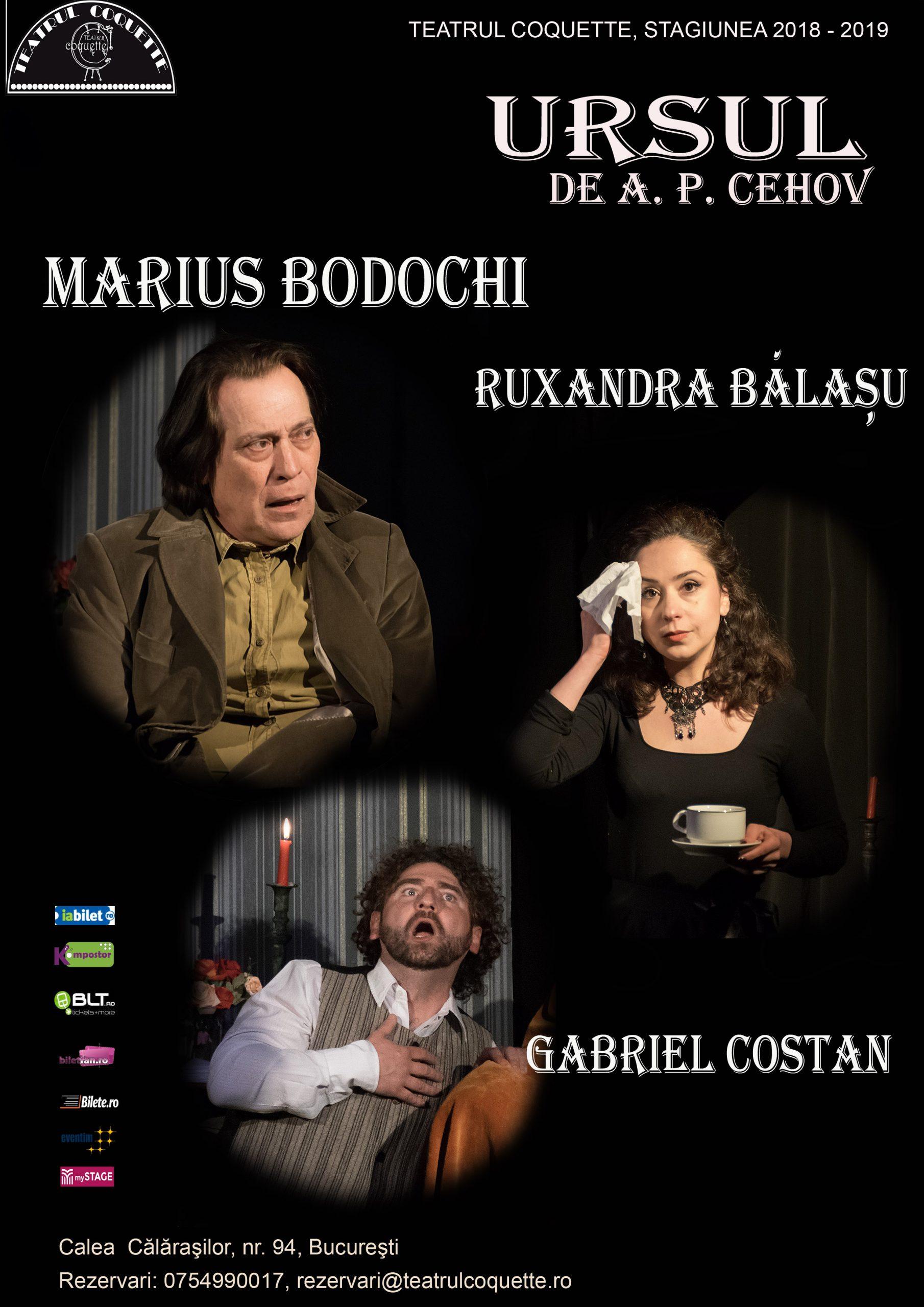 Teatrul Coquette – Ursul_afis